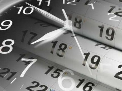 Tax clock and calendar