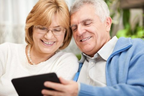 Grandparents with Ipad